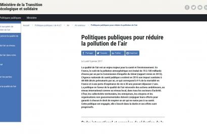 Page web sur la démarche sur le site du Ministère